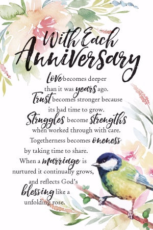 Plaque - With Each Anniversary