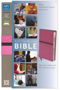 NIV Thinline Bible - Pink/Brown