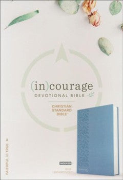 CSB (in)courage Devotional Bible - Blue Leathertouch Indexed
