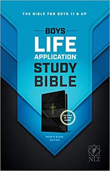 NLT Boys Life Application Study Bible Neon & Black