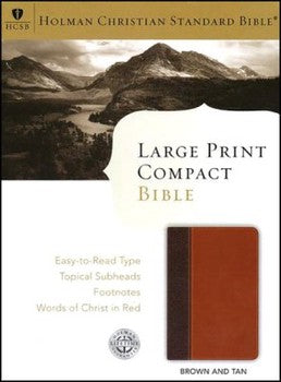 HCSB Large Print Compact Bible - Brown & Tan