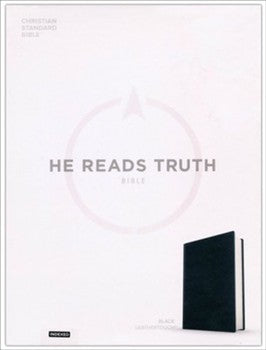 CSB He Reads Truth Bible - Black LeatherTouch Indexed