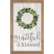 Framed Wall Art - Grateful & Blessed