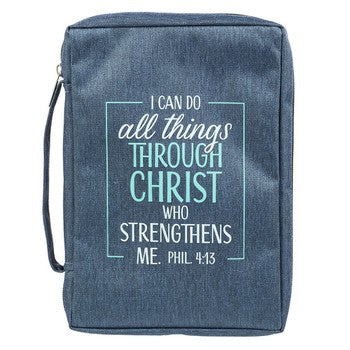 Bible Cover - I Can Do All Things Canvas Purse