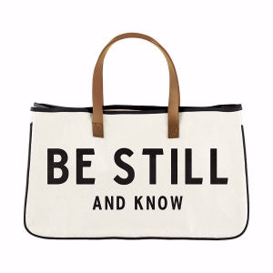 Canvas Tote Bag - Be Still And Know