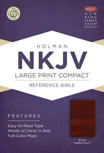 NKJV Large Print Compact Reference Bible - Brown