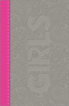 CSB Study Bible for Girls - Paisley Pink/Charcoal Leathertouch