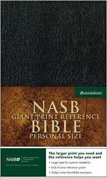 NASB Giant Print Reference Bible - Black