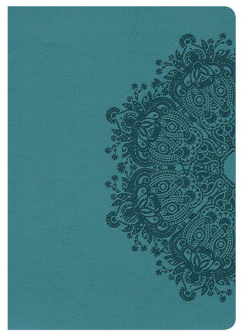 NKJV Large Print Compact Reference Bible - Teal