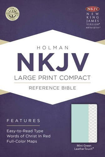 NKJV Large Print Compact Reference Bible - Mint