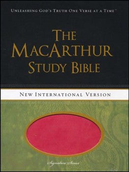 NIV MacArthur Study Bible - Pink LeatherTouch
