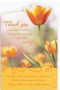 Card - Thank You Tulip