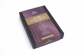NKJV Super Giant Print Reference Bible - Black LeatherTouch Indexed