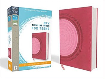 NIV Comfort Print Thinline Bible for Teens - Pink