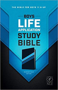NLT Boys Life Application Study Bible Blue & Black