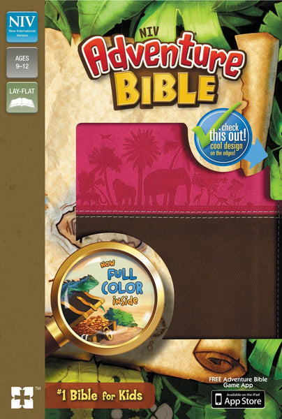 NIV Full Colour Adventure Bible - Pink/Brown