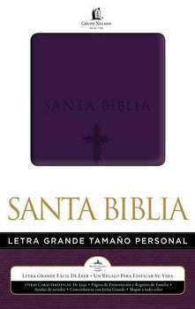 Santa Biblia (Spanish) Large Print Personal Size Bible - Purple