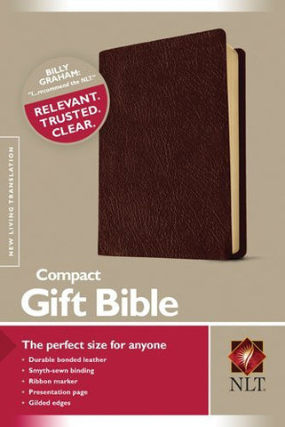 NLT Compact Gift Bible - Brown