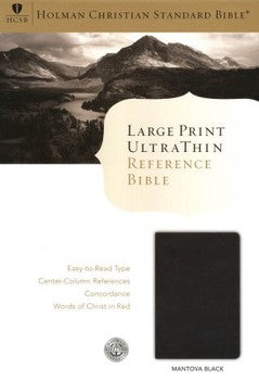 HCSB Large Print UltraThin Reference Bible - Black