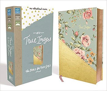 NIV True Images Bible for Teen Girls - Teal/Gold Leathersoft