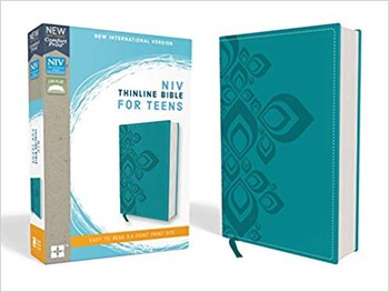 NIV Comfort Print Thinline Bible for Teens - Blue