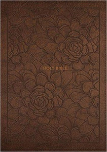 NKJV Single-Column Reference Bible - Brown LeatherSoft