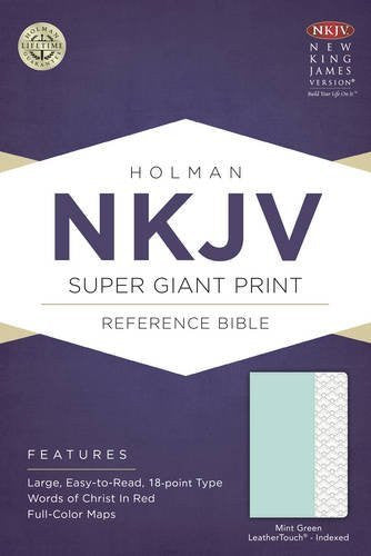 NKJV Super Giant Print Reference Bible - Mint Green