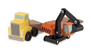 Digger and Low Loader