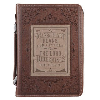 Bible Cover - A Man's Heart