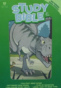 HCSB Study Bible For Kids - Dinosaur Leathertouch