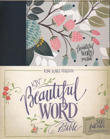 KJV Beautiful Word Bible - Floral Hardcover
