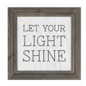 Framed Wall Art - Let Your Light Shine
