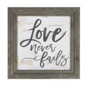 Framed Wall Art - Love Never Fails