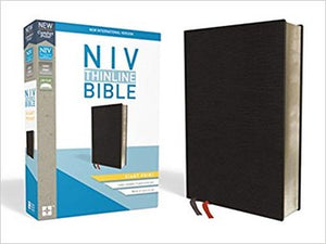 NIV Giant Comfort Print Thinline Bible - Black Bonded Leather