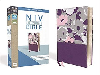 NIV Comfort Print Thinline Bible - Purple