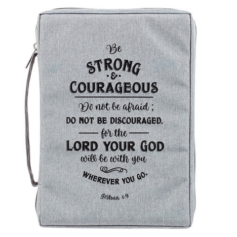 Bible Cover - Strong and Courageous Canvas Purse