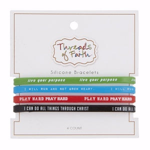 Bracelet - Live/Run/Play/Do (Set of 4)