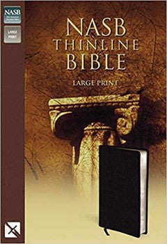 NASB Large Print Thinline Bible - Black Bonded Leather