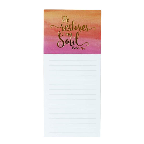 Magnetic Note Pad - He Restores