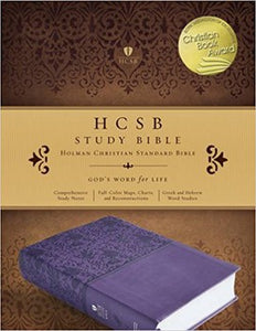 HCSB Study Bible - Purple Leathertouch