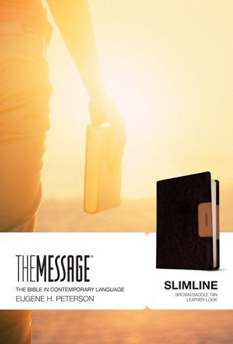 The Message Slimline Bible - Brown/Tan