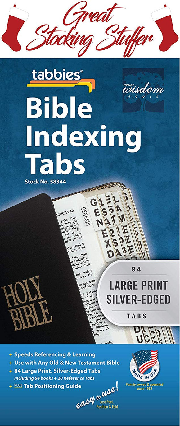 Bible Tabs - Silver Large Print