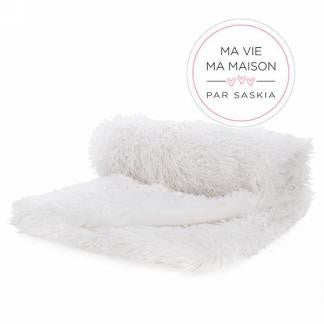Throw Blanket - White Faux Fur