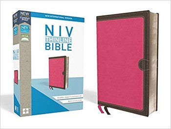 NIV Comfort Print Thinline Bible - Pink