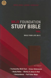 NKJV Foundation Study Bible - LeatherSoft Brown