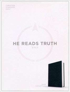 CSB He Reads Truth Bible - Black LeatherTouch