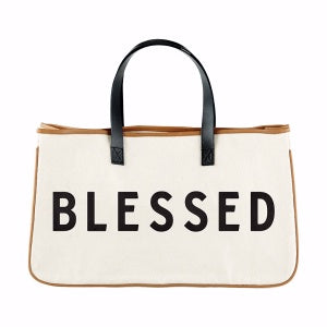 Canvas Tote Bag - Blessed