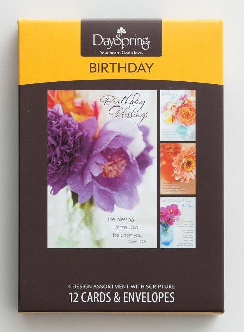 Boxed Cards - Birthday Flowers