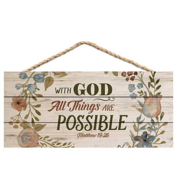 Hanging Sign - With God