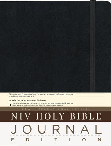 NIV Bible Journal Edition - Black
